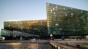 Harpa concert hall in downtown Reykjavik