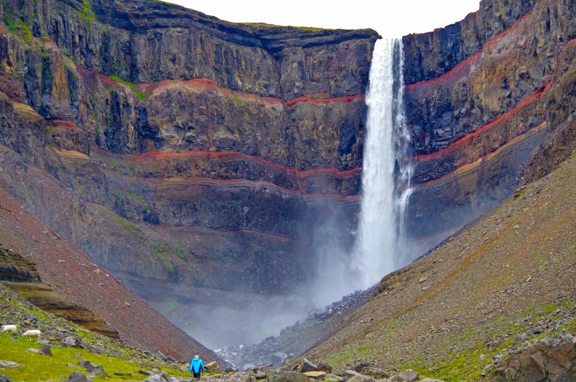 Hengifoss waterfall in East Iceland