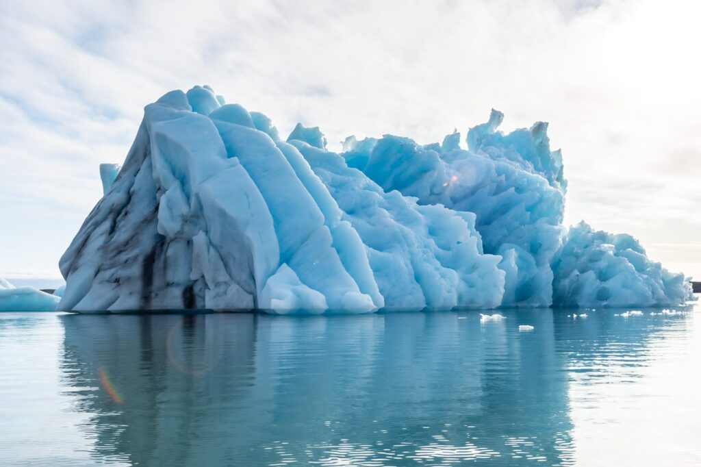 Jokulsarlon glacier lagoon in south east Iceland
