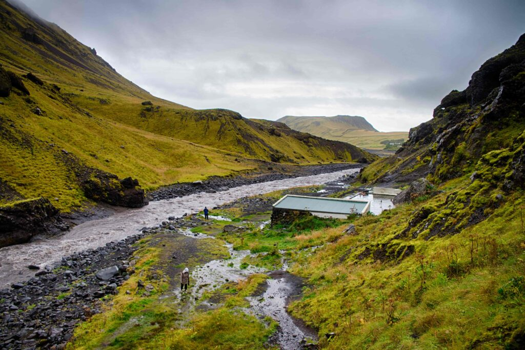 Seljavallalaug natural swimming pool in south Iceland