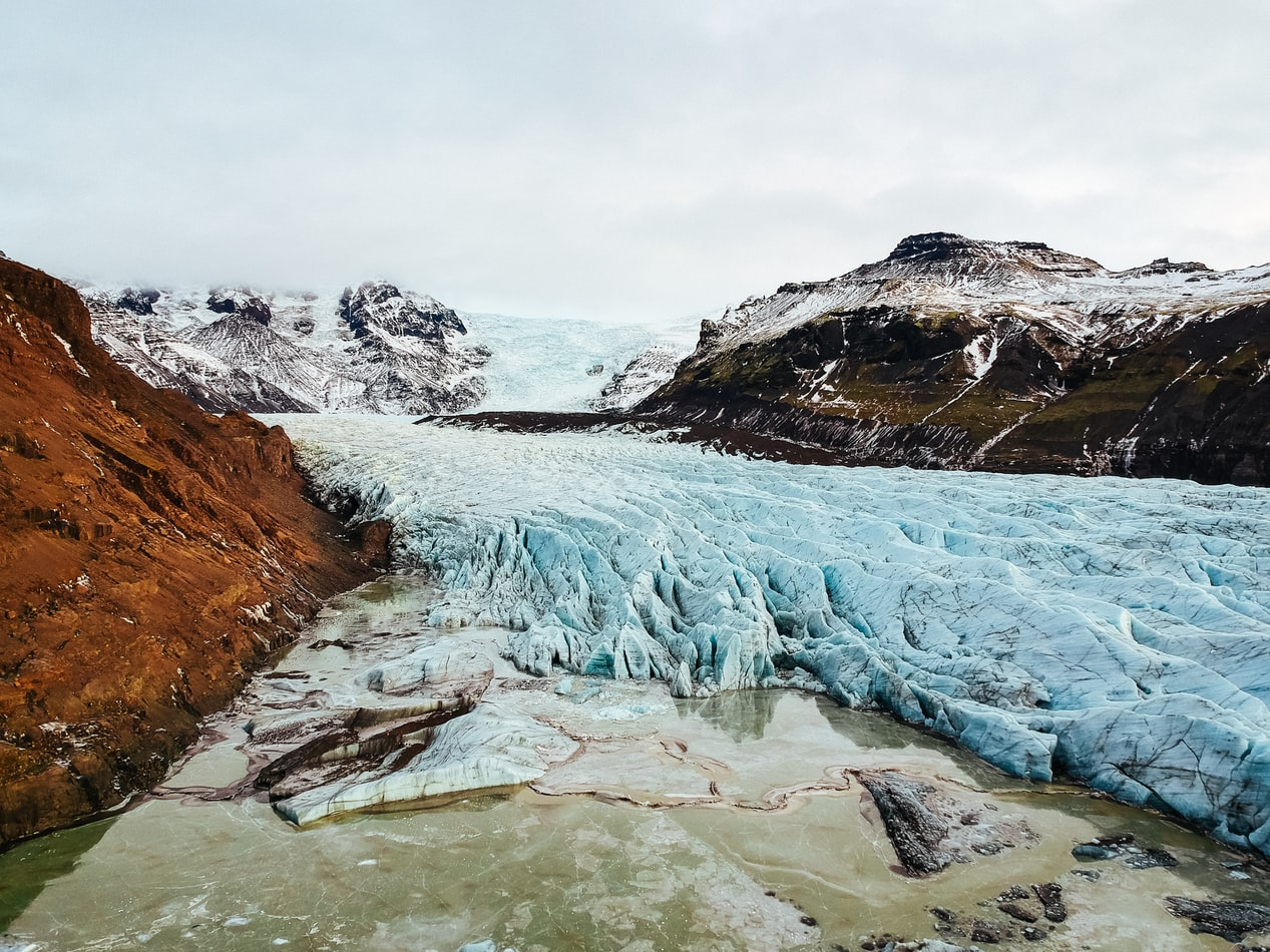 Skaftafell National Park in south Iceland