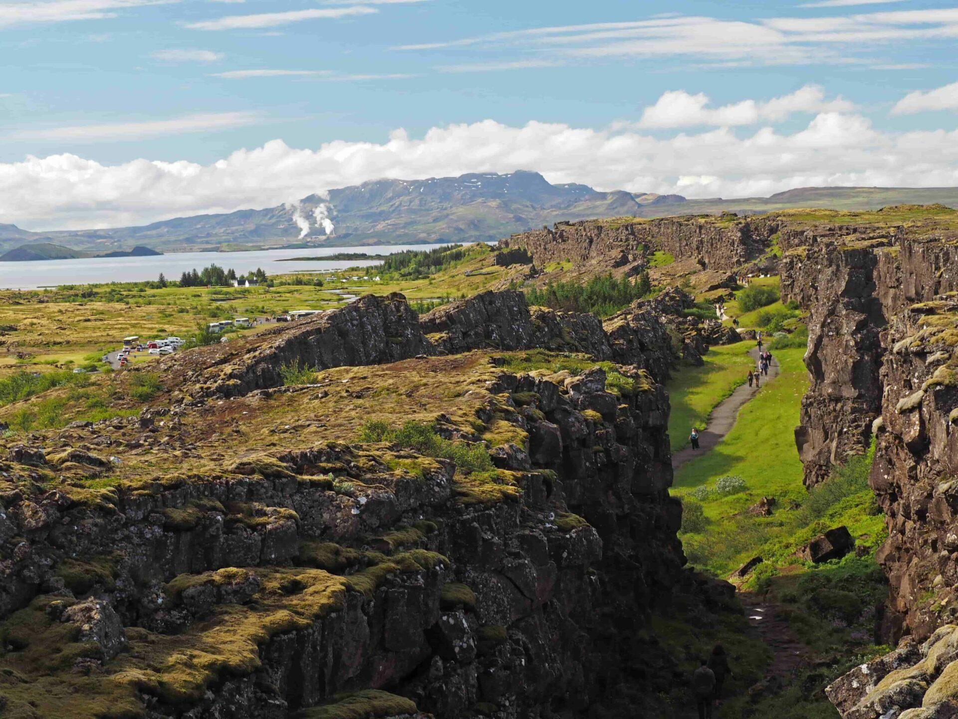 Thingvellir National Park during summer in Iceland, Golden Circle