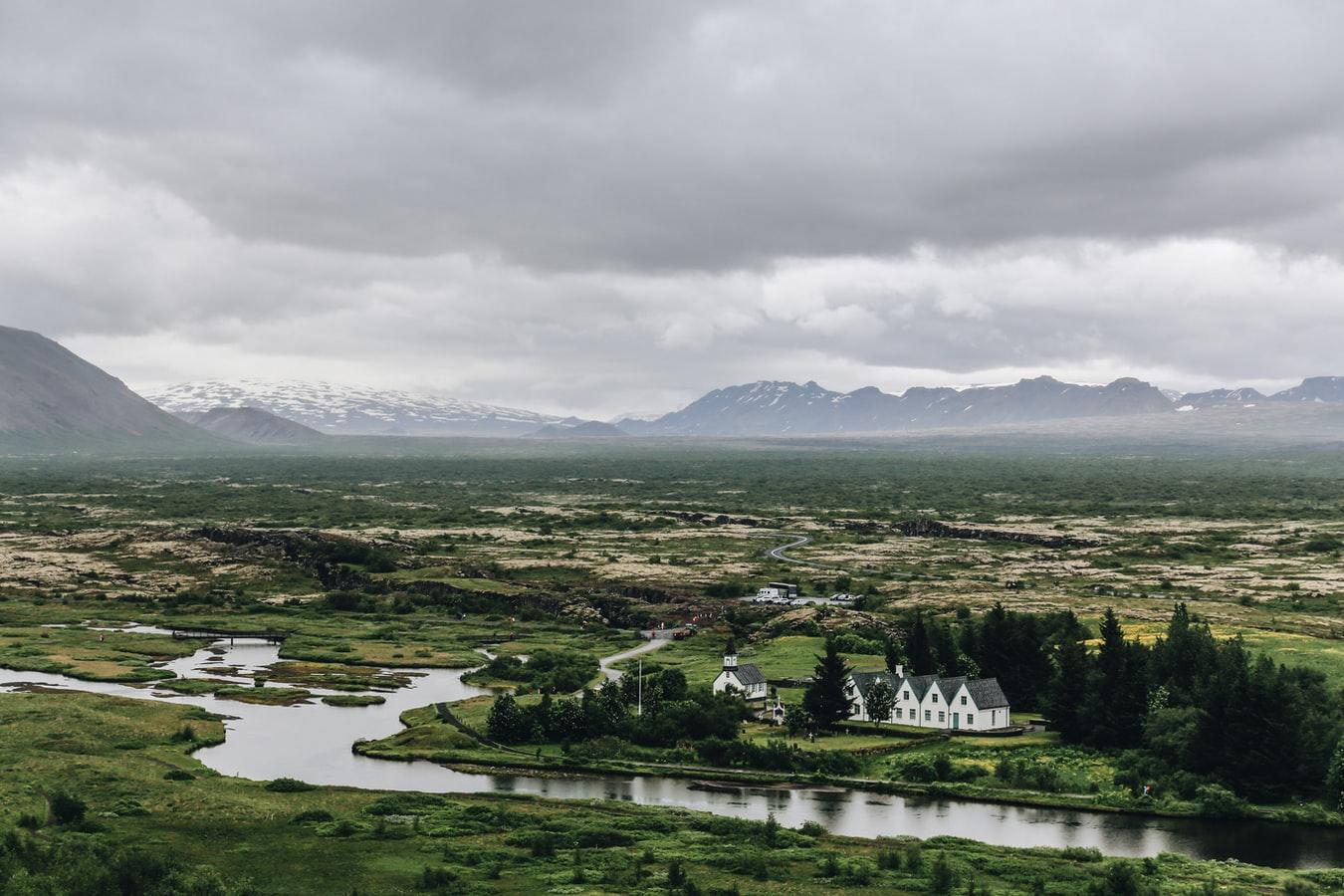 Thingvellir National Park during summer in Iceland
