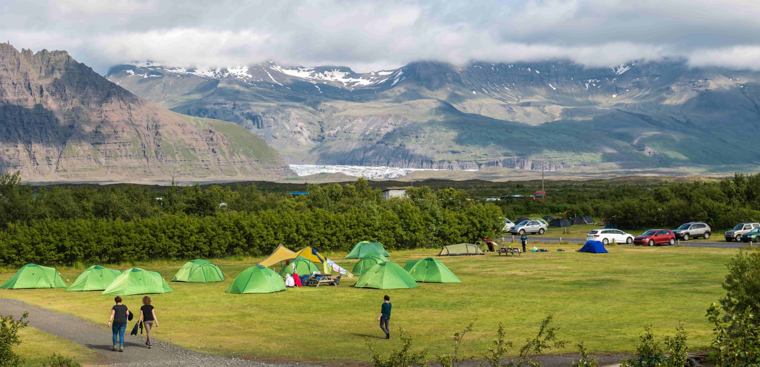 Skaftafell campsite in south Iceland