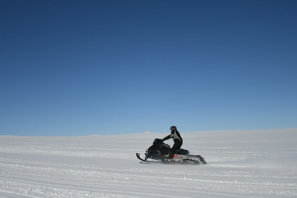 glacier snowmobile in Iceland