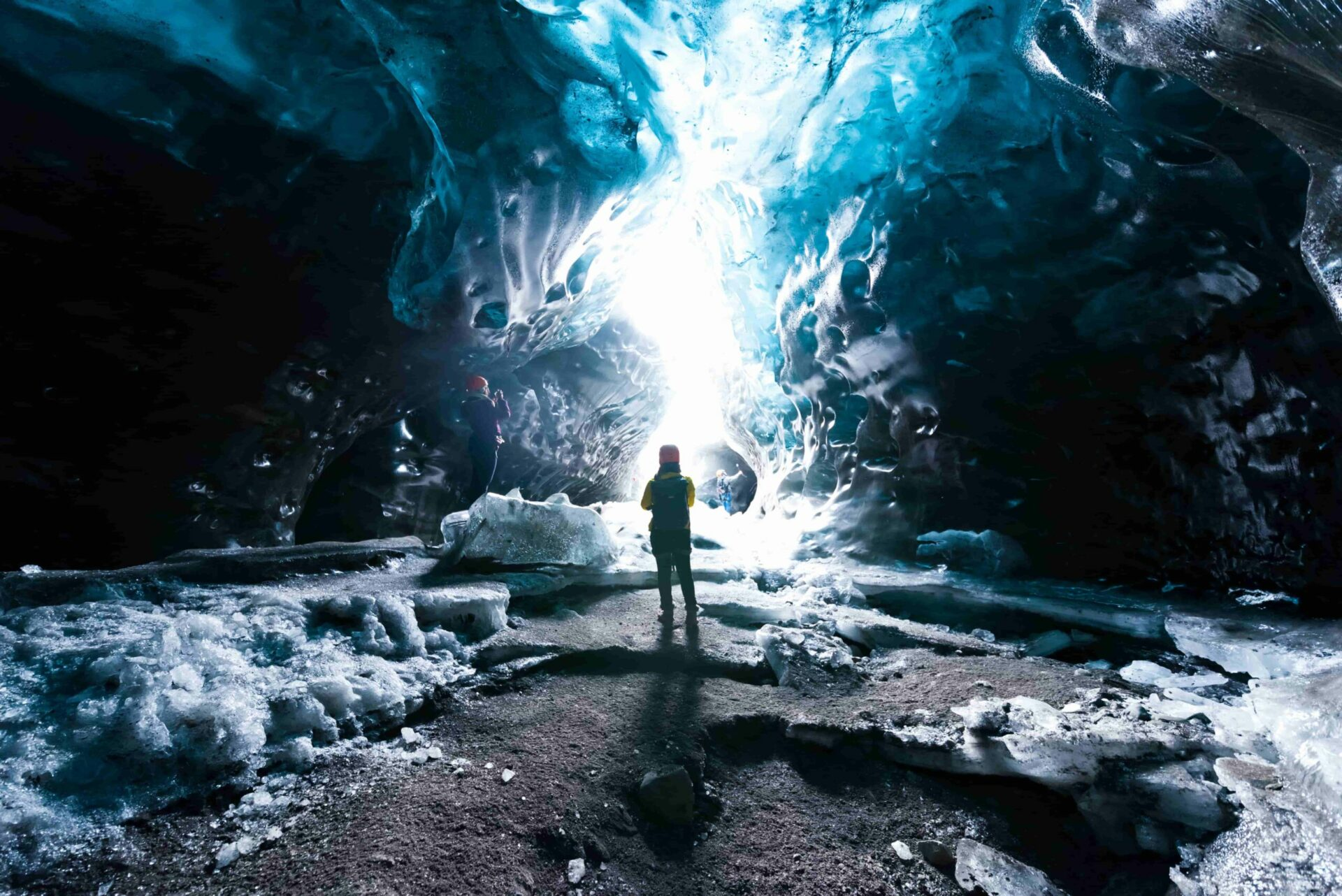 Skaftafell ice cave in south Iceland