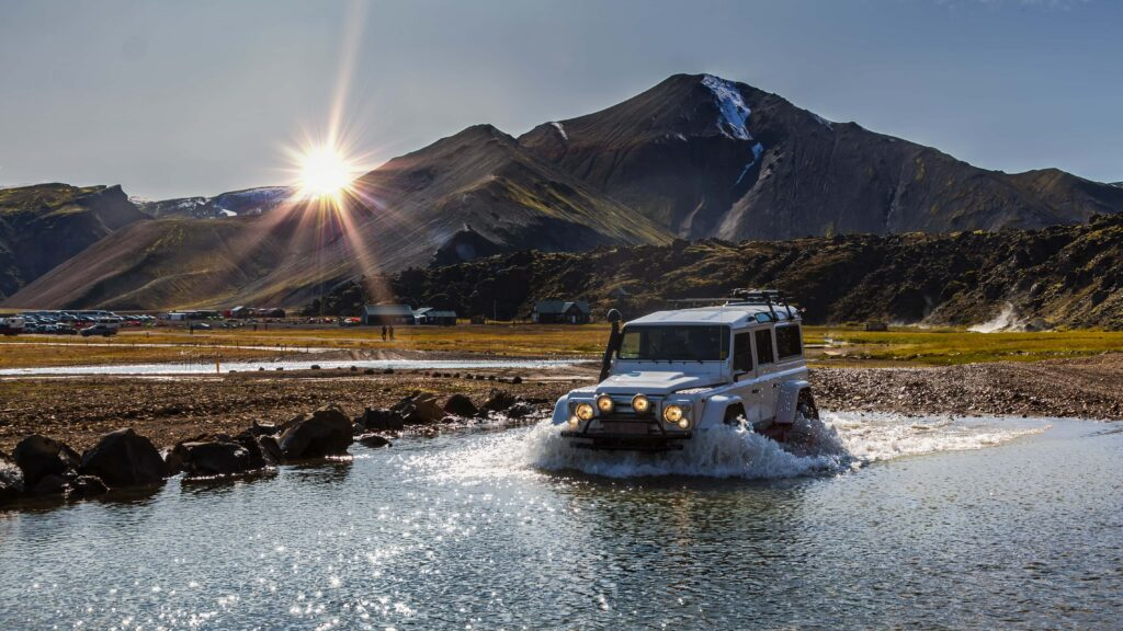 Iceland Super Jeep in Thorsmork Highlands