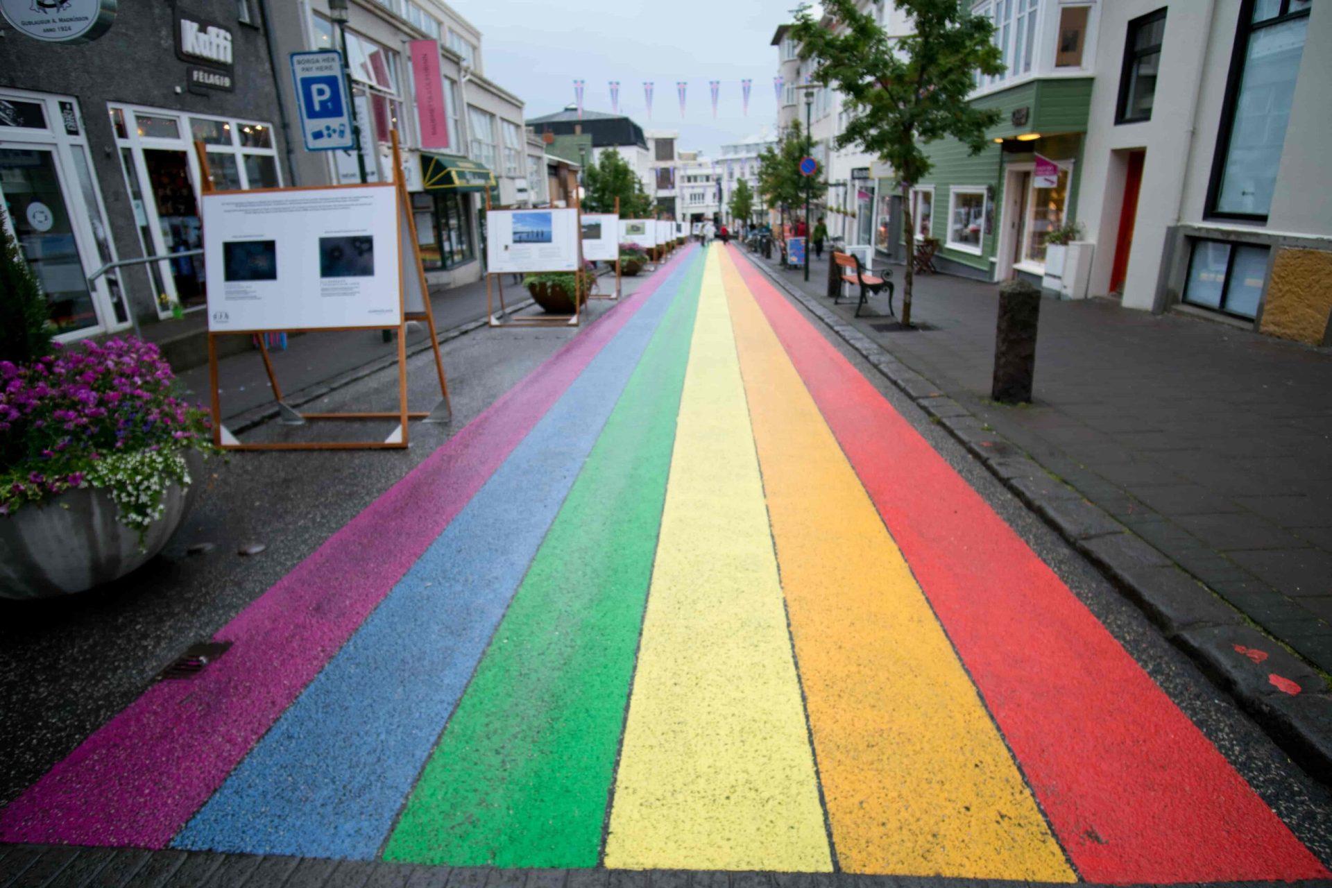 Reykjavik Rainbow street, Gay Pride in Rekjavik
