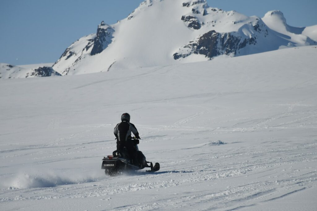 glacier snowmobile in Iceland