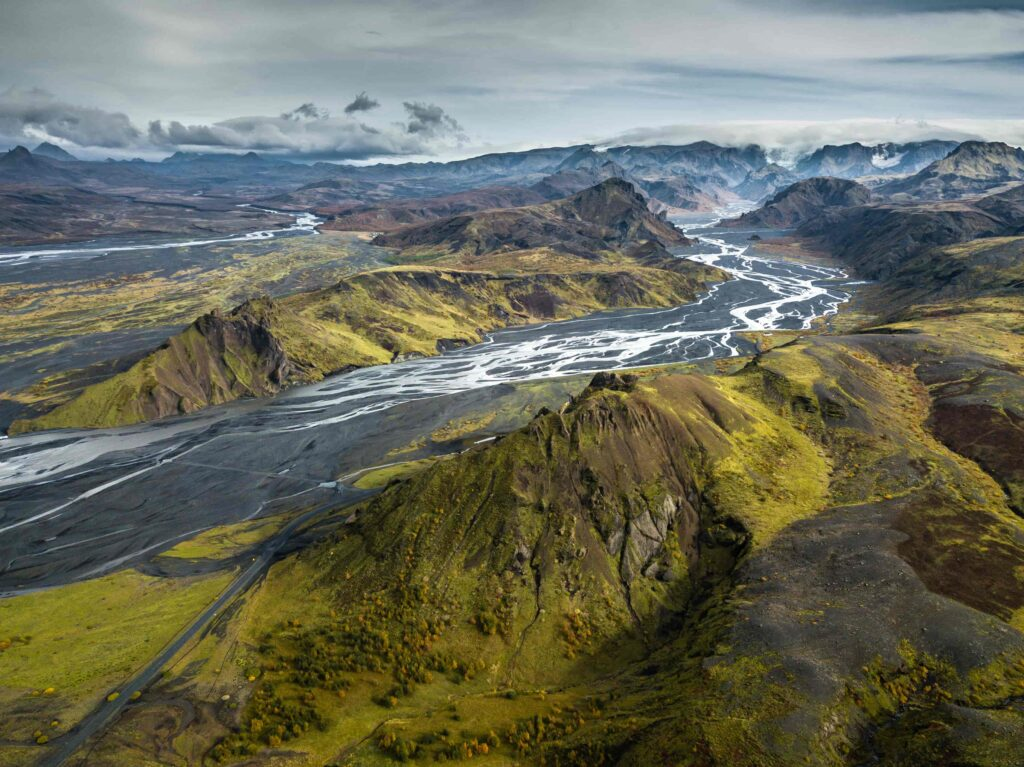 Þórsmörk in the highlands of Iceland