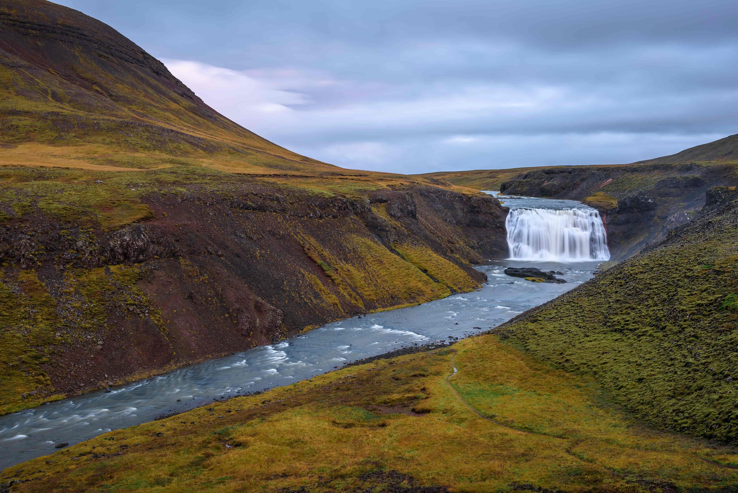 Þórufoss waterfall in the Golden Circle in Iceland