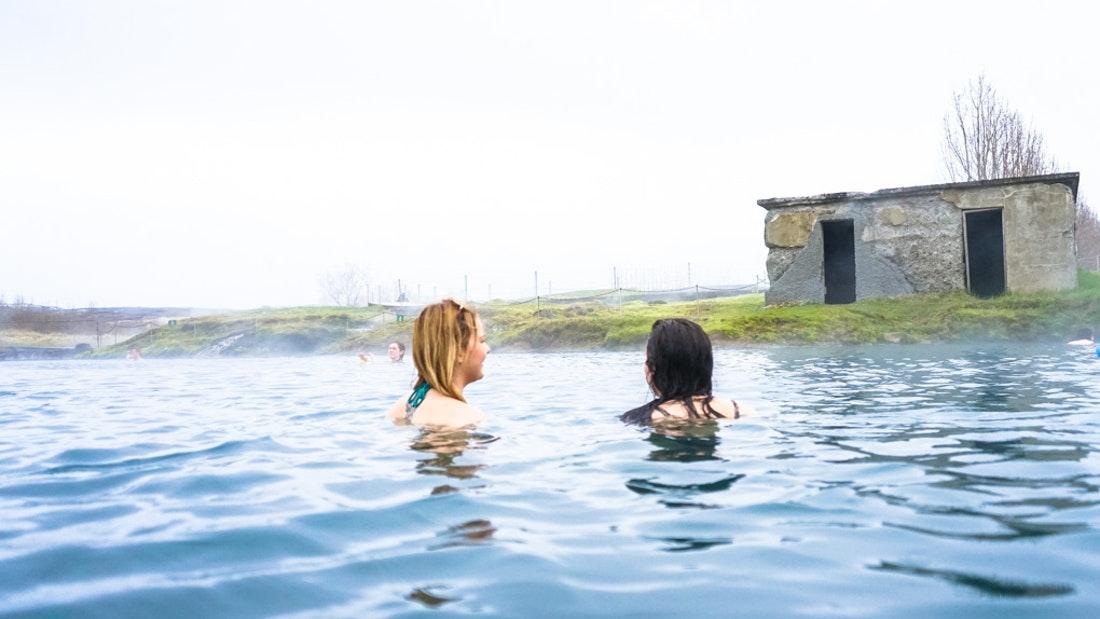 Secret Lagoon hot spring in Iceland