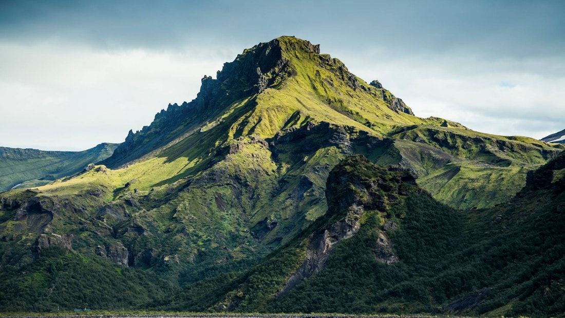 Tindfjöll Circle Hike, View over Þórsmörk in the Highlands of Iceland
