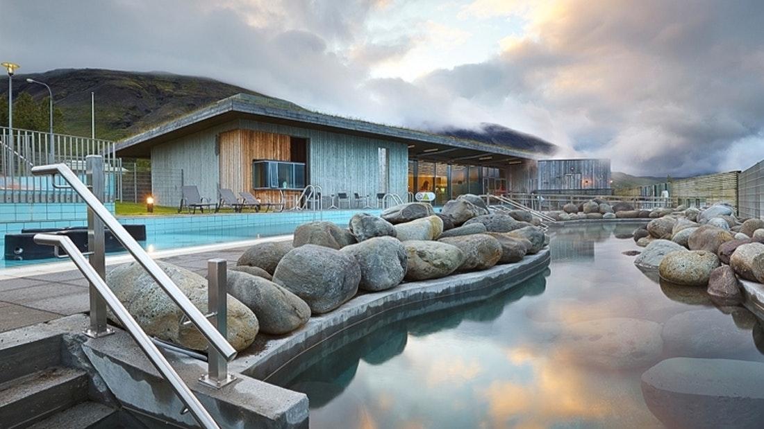 swimming pool and hot tubs at Laugarvatn Fontana hot springs