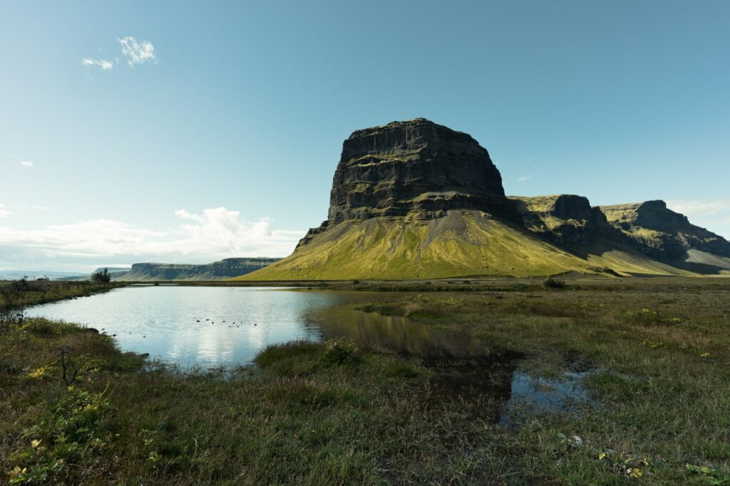Lómagnúpur mountain in south Iceland