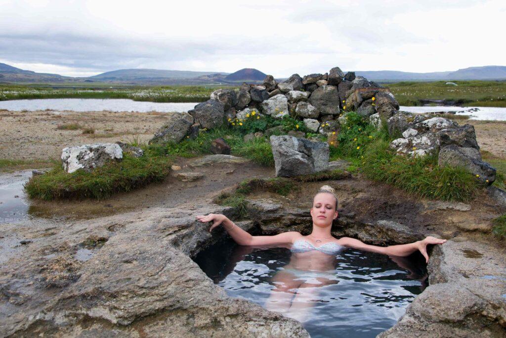 Landbrotalaug hot spring in Snæfellsnes Peninsula