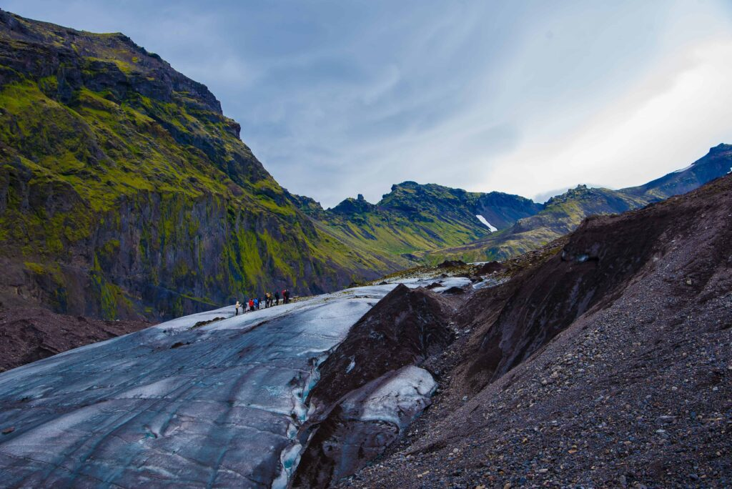 Sólheimajokull glacier hike in south Iceland