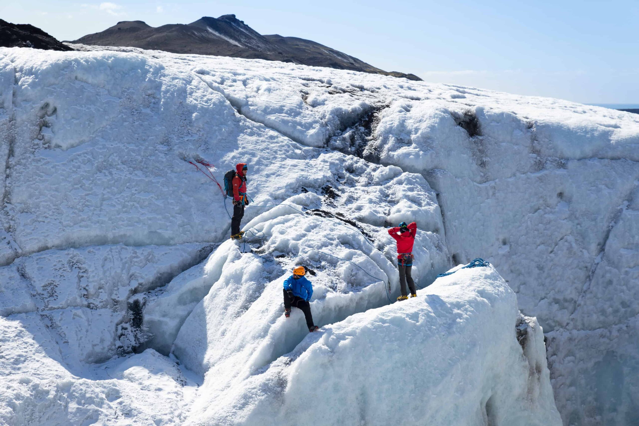 Sólheimajokull glacier hike and ice climbing in south Iceland