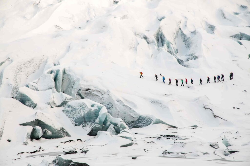 Solheimajokull glacier hike in south Iceland