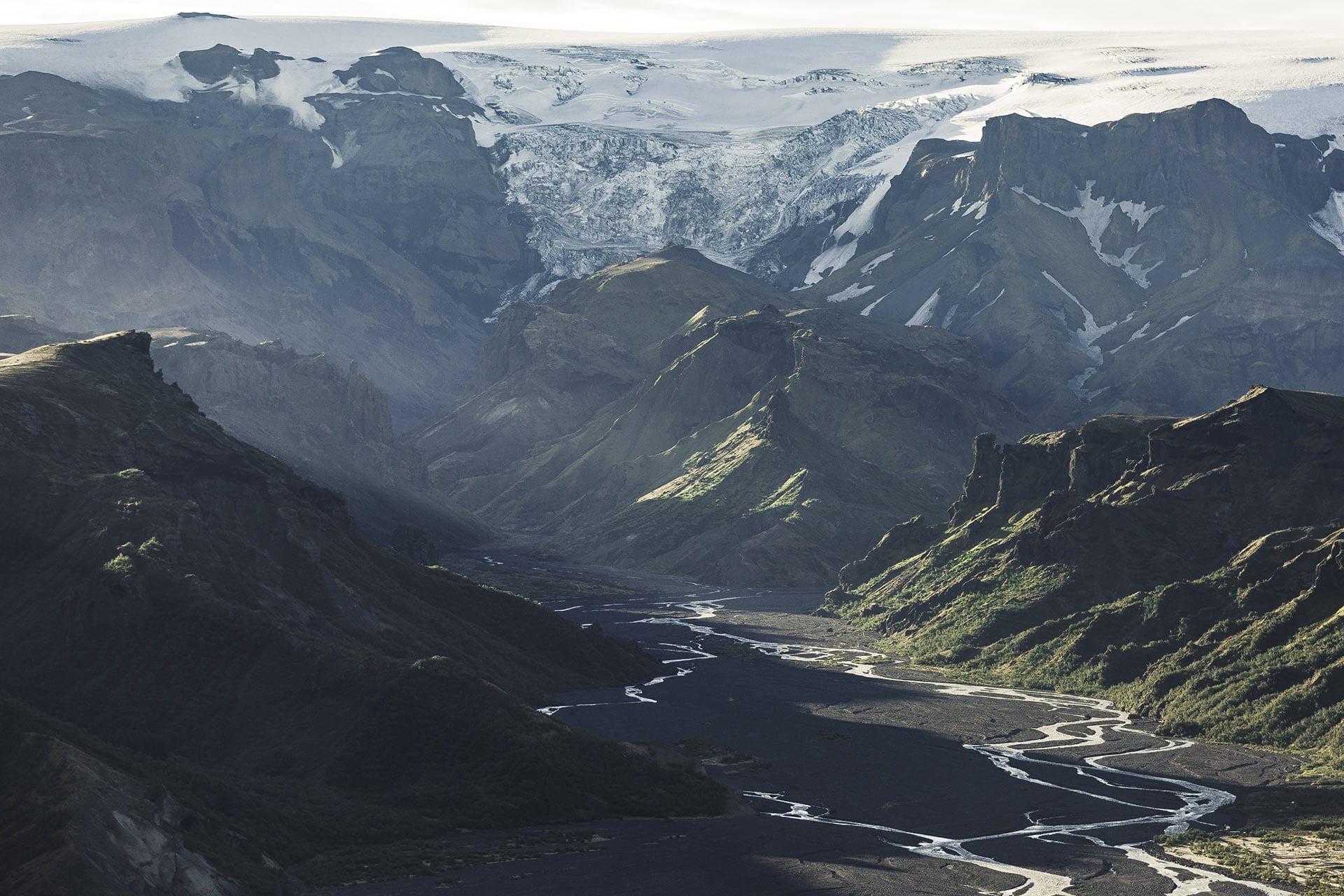 Þórsmörk in the highlands of Iceland