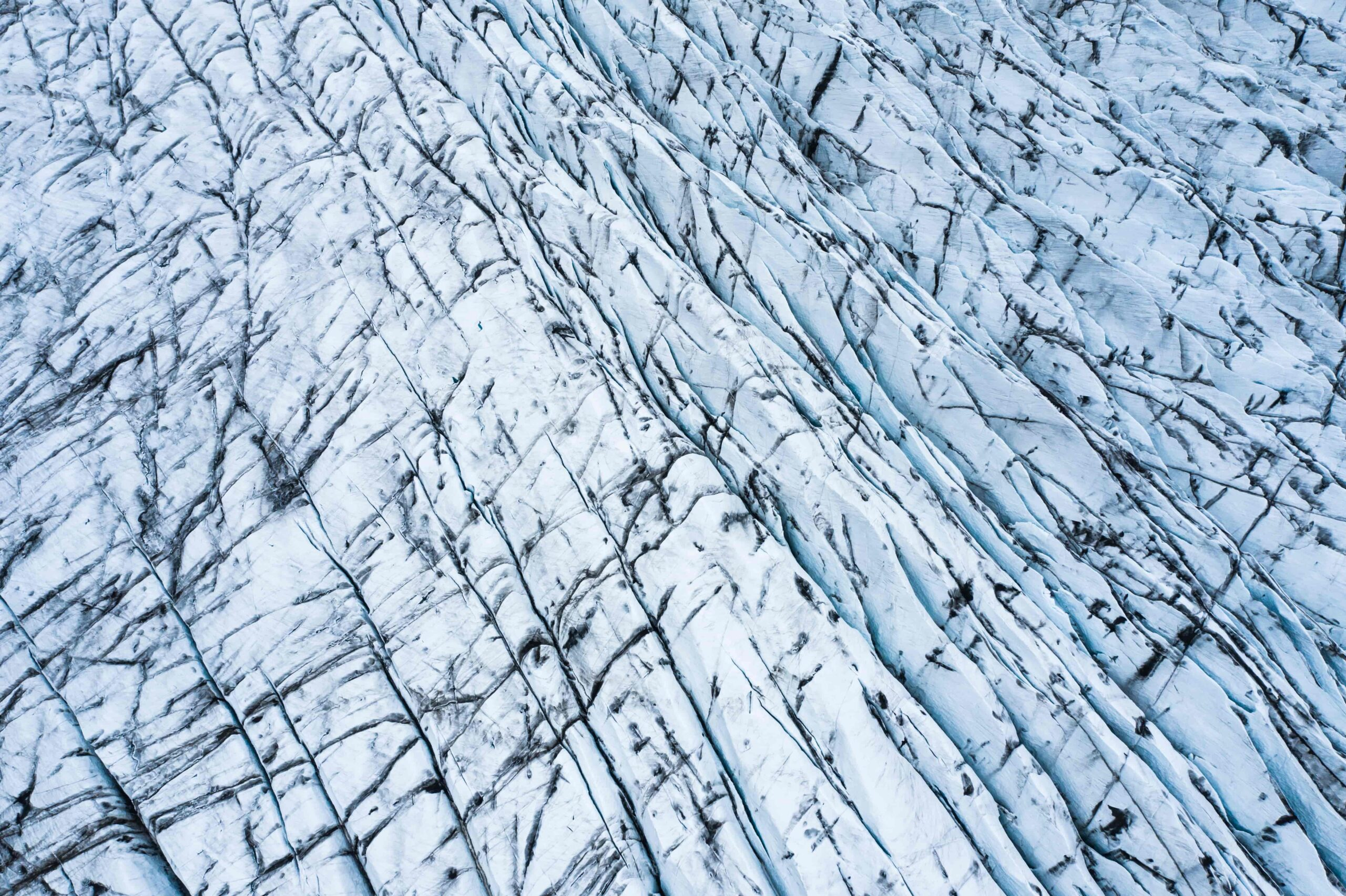 Vatnajokull glacier seen from above