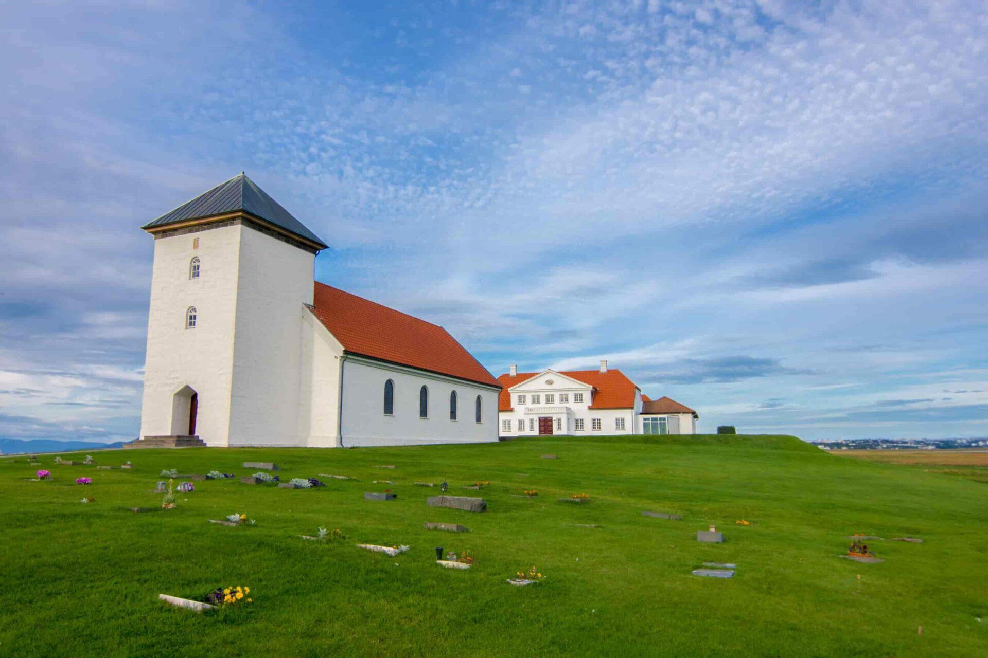 Bessastadir where the president of Iceland lives in Alftanes