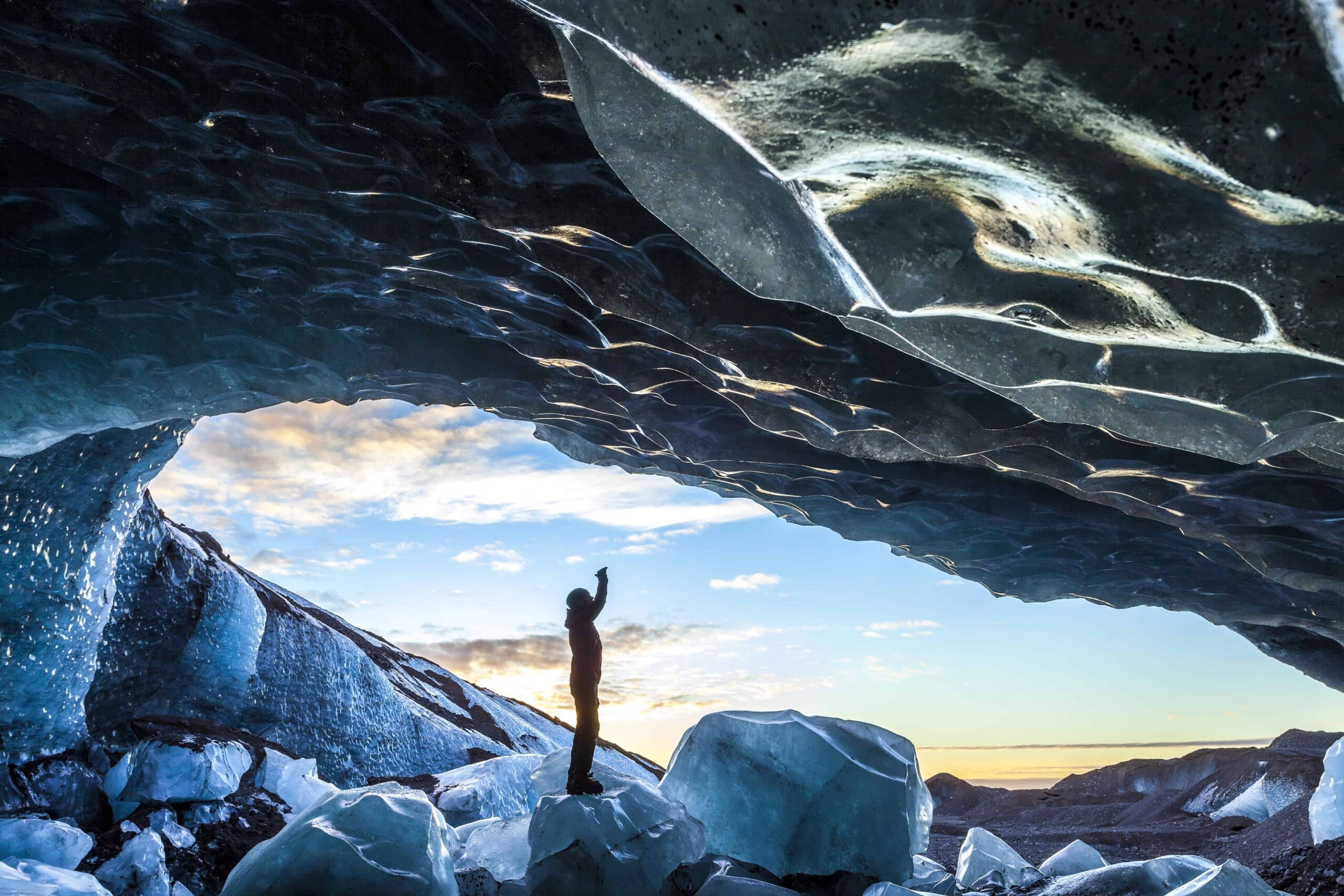 natural ice cave in Iceland