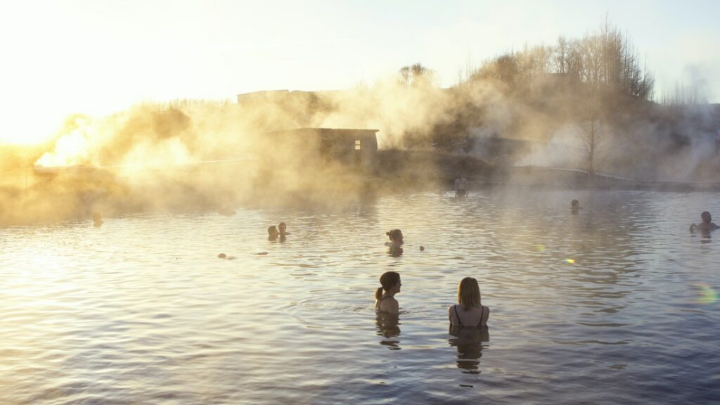 Secret Lagoon hot spring in Iceland