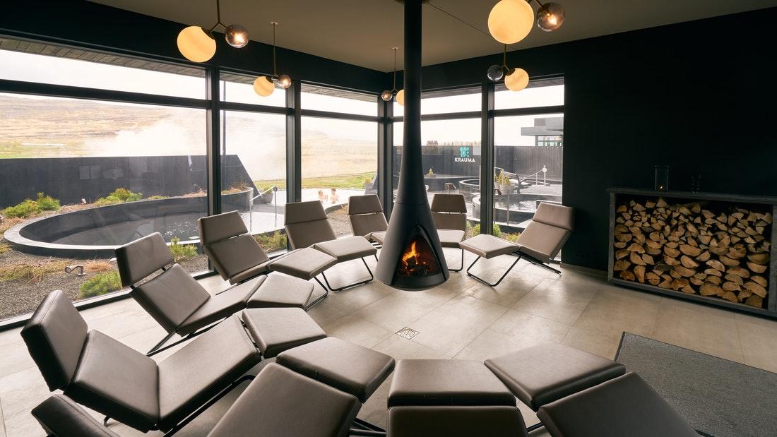 Krauma geothermal baths and spa in west Iceland