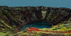Kerið crater in south Iceland