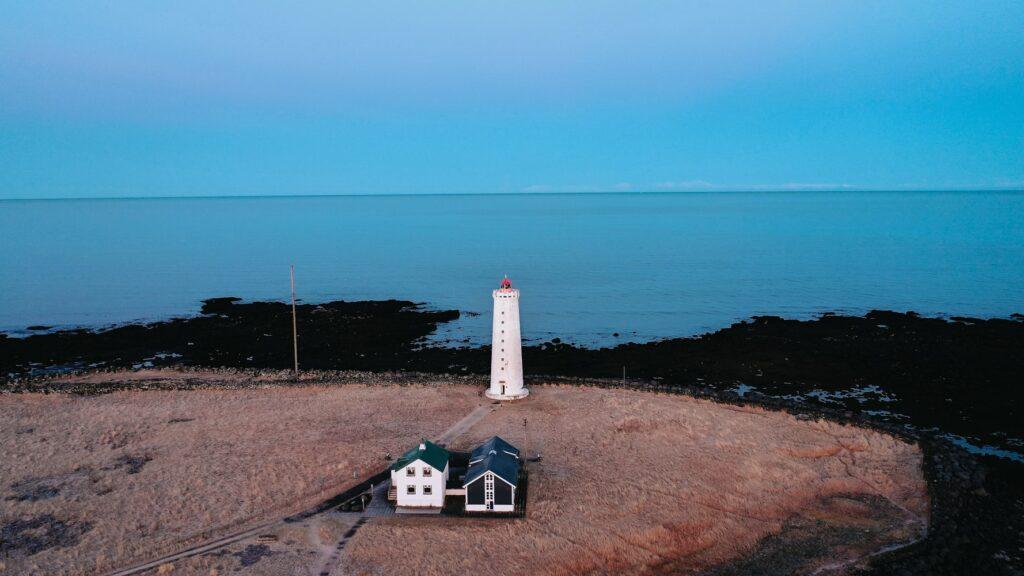 Grótta lighthouse in Seltjarnarnes lighthouse