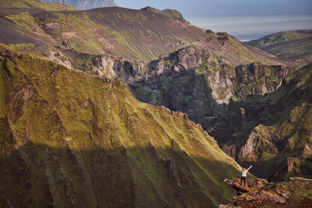 Hiking in Þakgil and Remundargil canyons in south Iceland