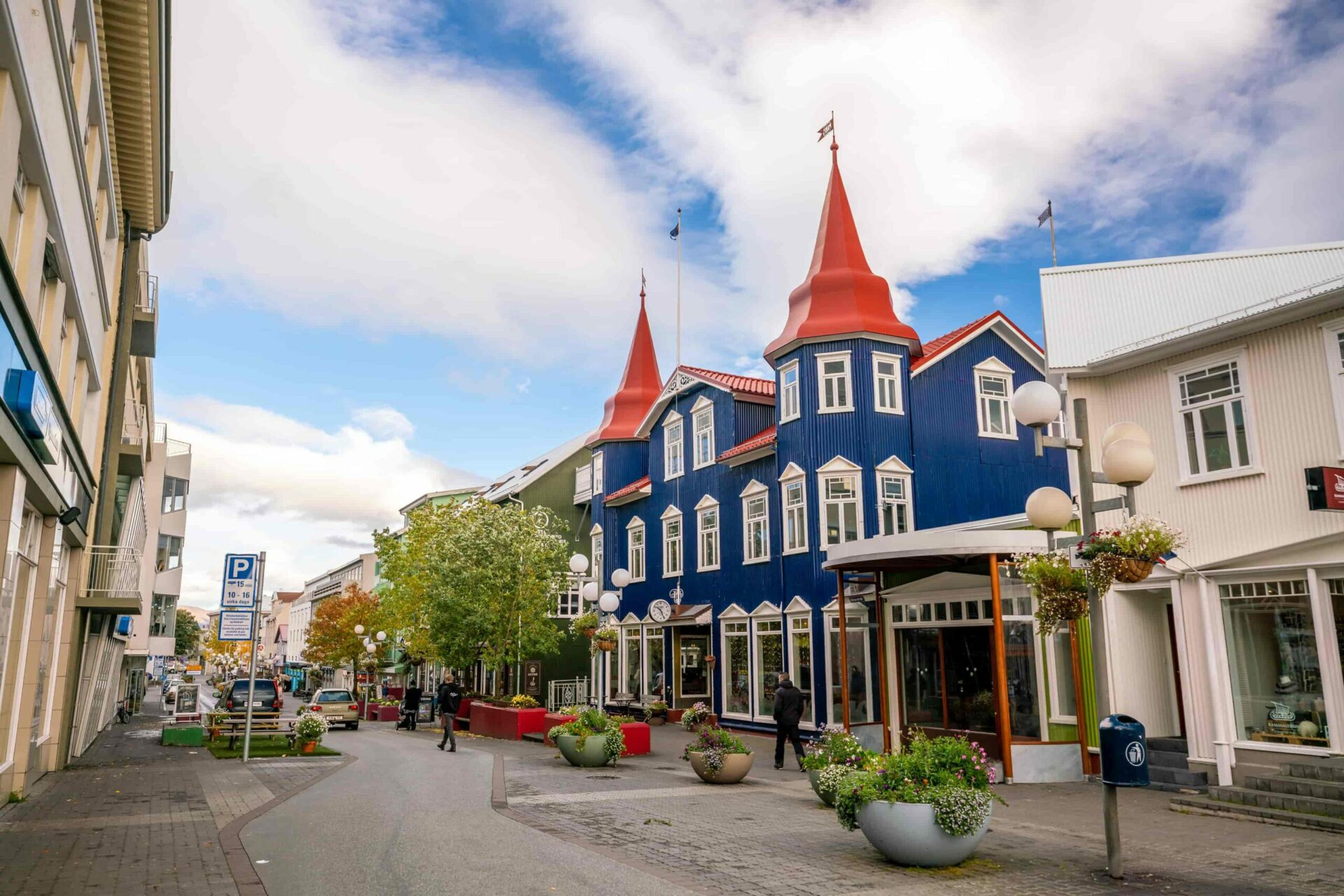 unique house in Akureyri north Iceland, capital of north Iceland