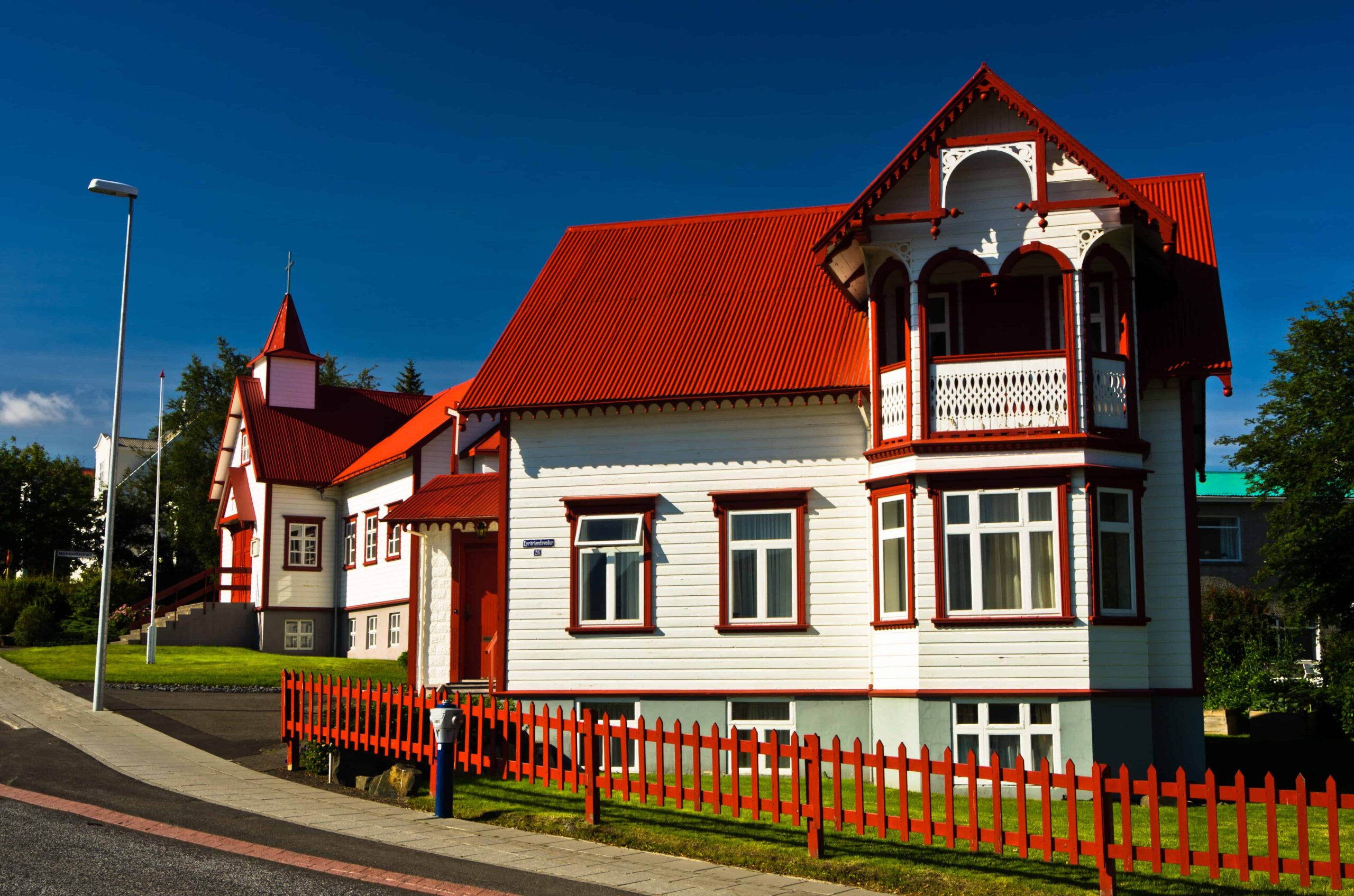 unique house in AKureyri city in north Iceland
