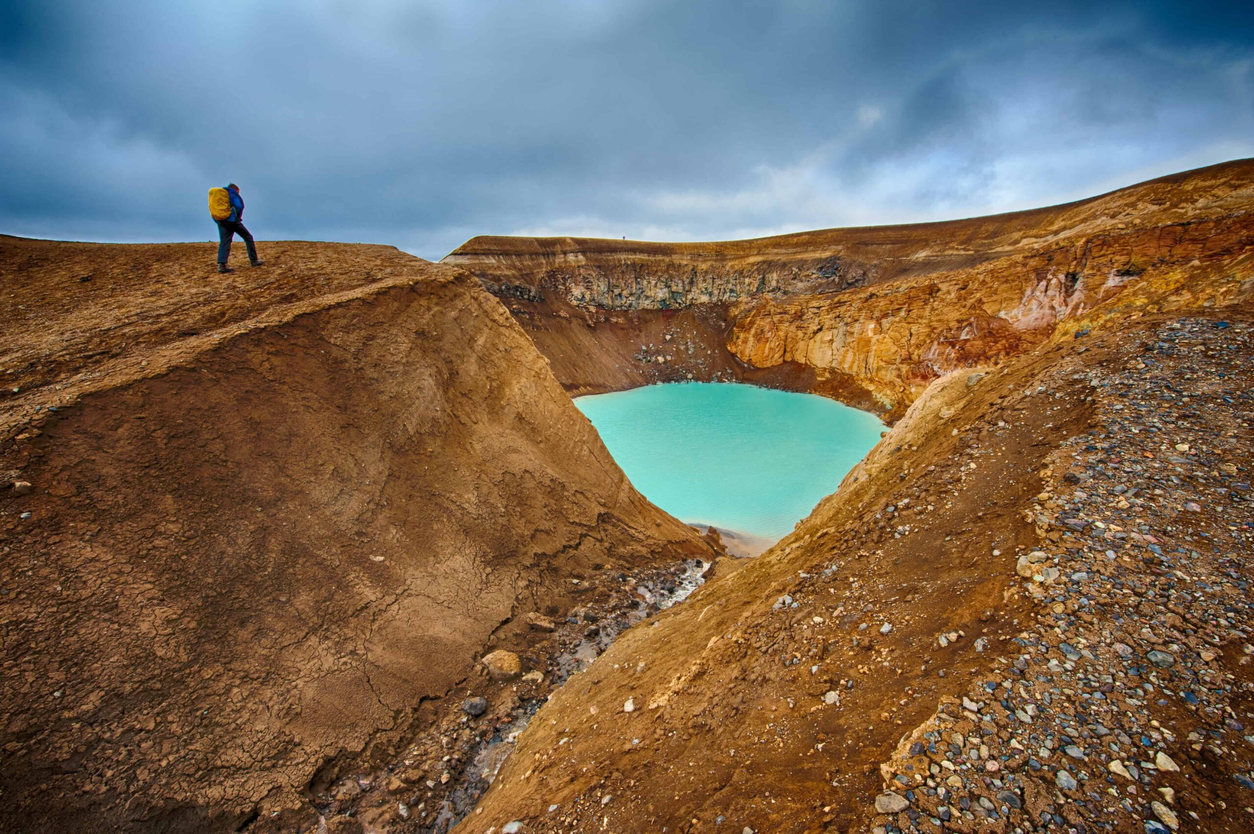 Askja Crater in the highlands of Iceland