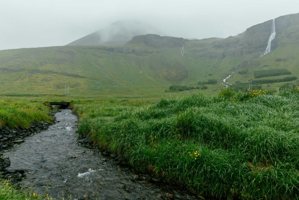 Bjarnarfoss waterfall in Snæfellsnes Peninsula