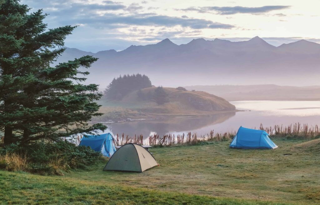 camping in Egilsstaðir Lagarfjot in east Iceland