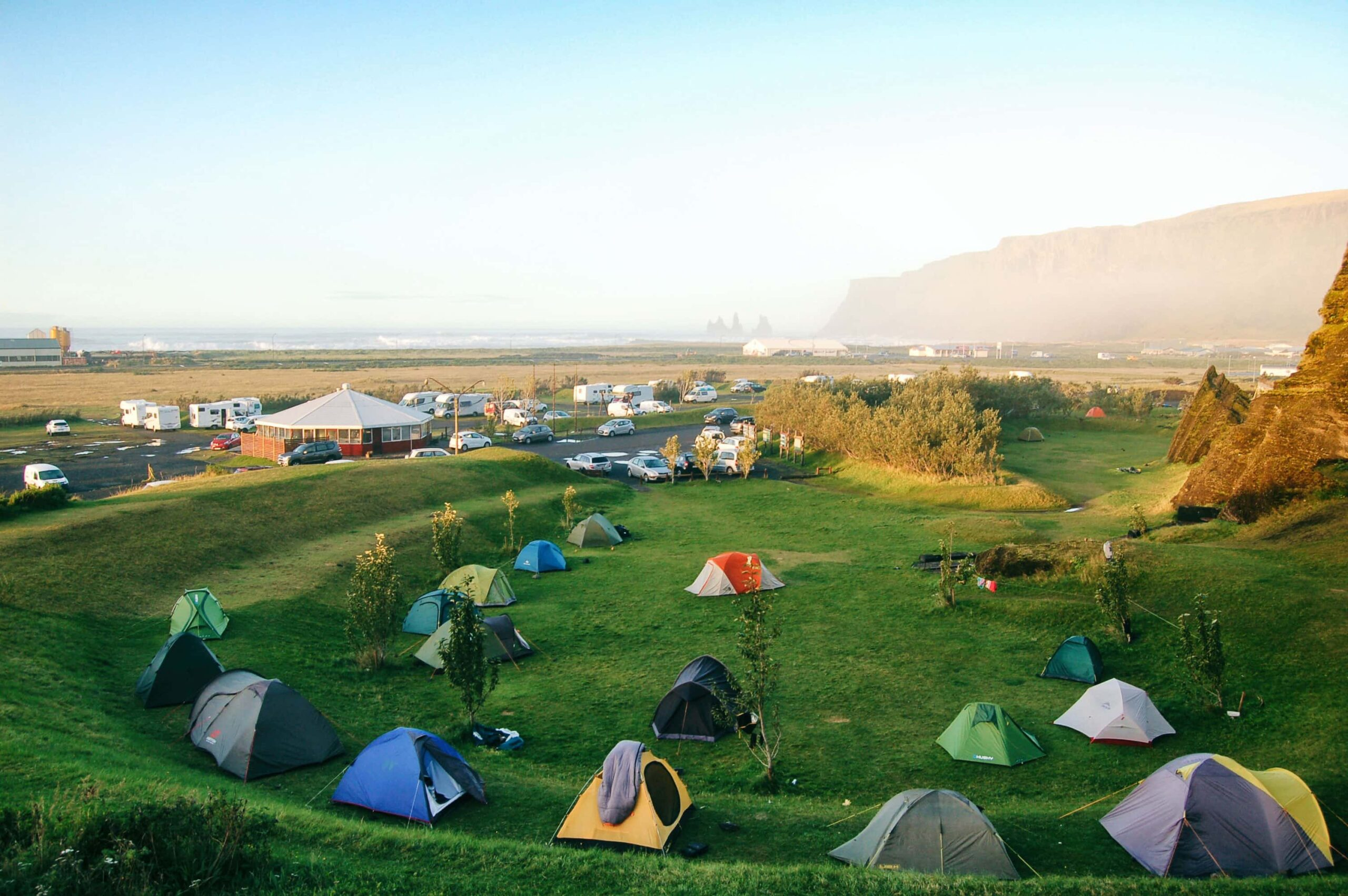 camping in Vík south Iceland
