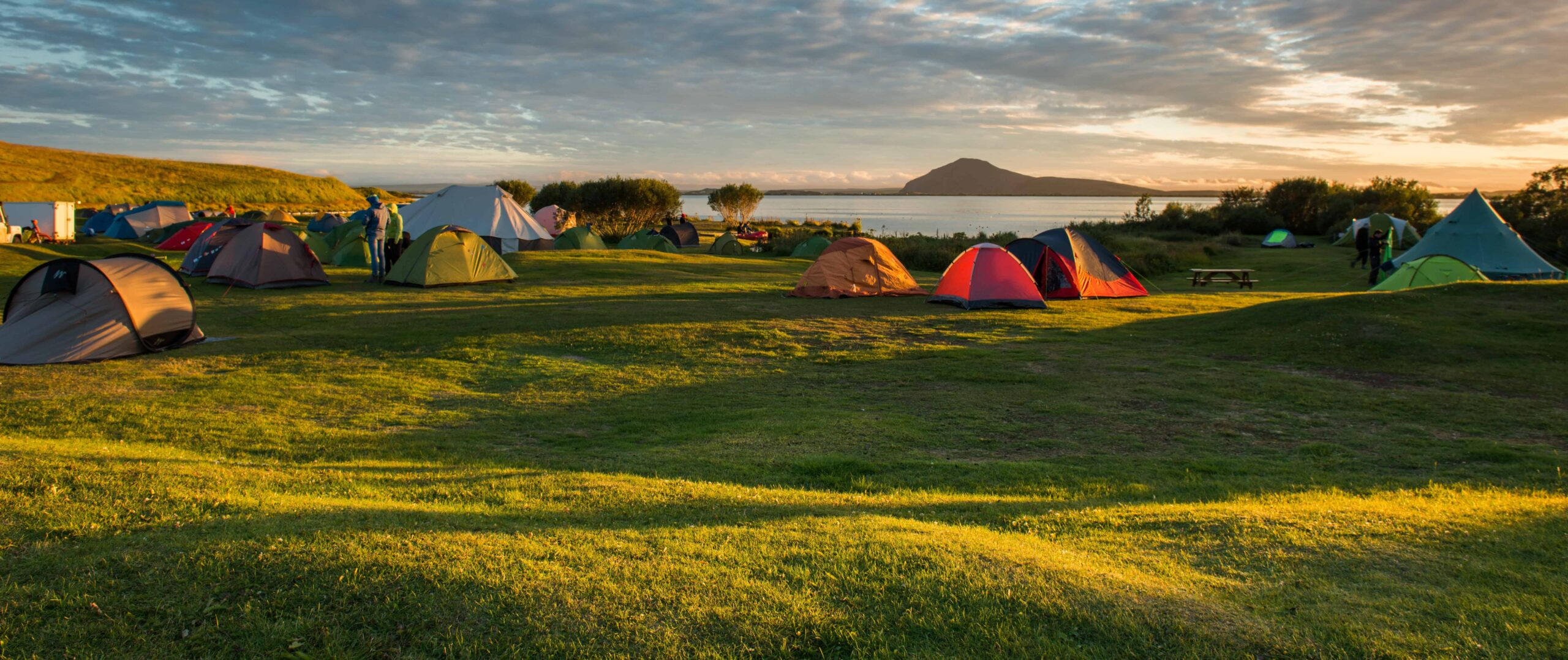 Camping in Myvatn North Iceland
