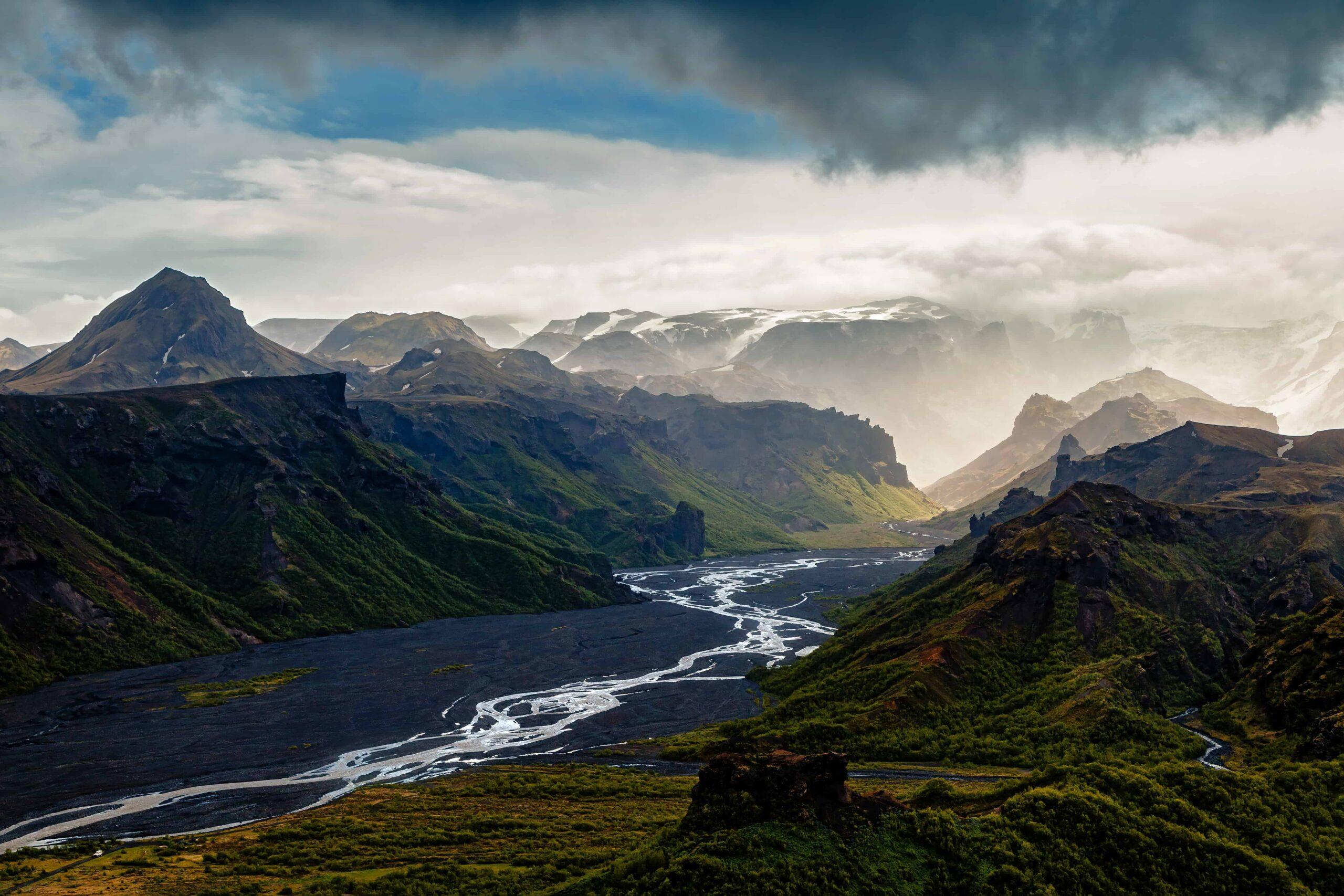 Þorsmork and Eyjafjalljokull volcano
