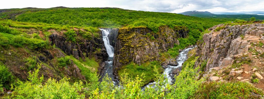 Fardagafoss waterfall in east Iceland