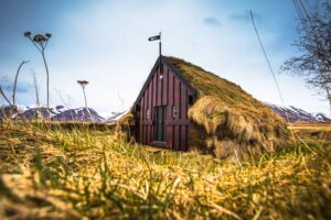 Grafarkirkja turf church in Iceland
