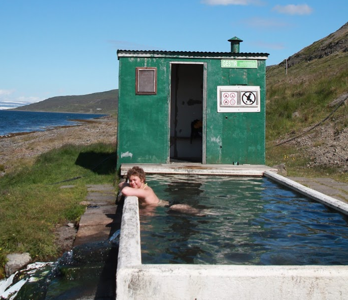Hörgshliðarlaug hot spring in the Westfjords of Iceland