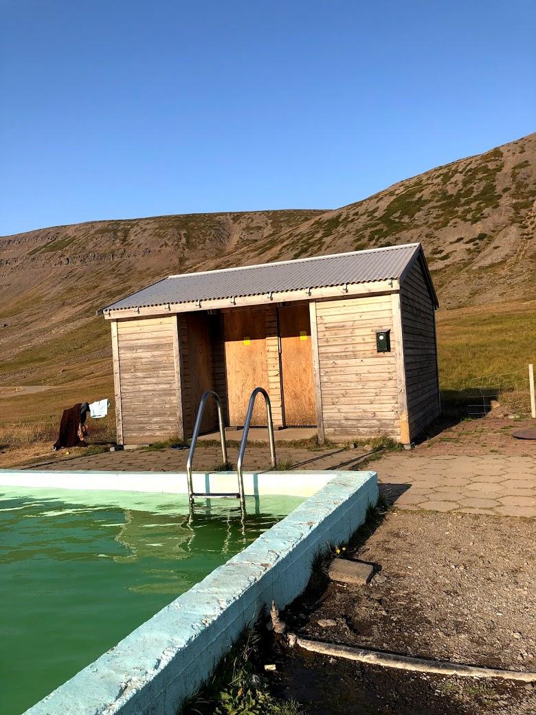 facilities at Reykjafjarðarlaug swimming pool in the westfjrods
