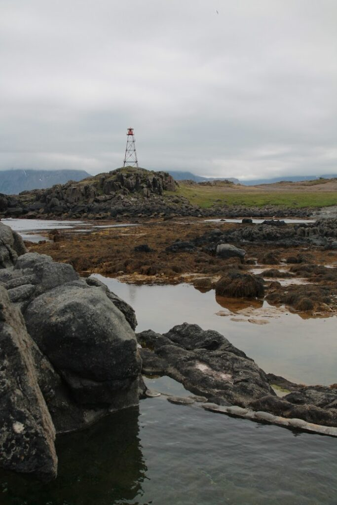 Hakarlavogur hidden hot spring in the westfjords of Iceland