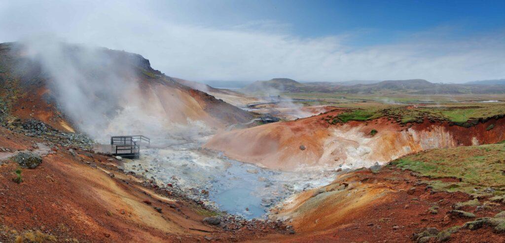 Krysuvik selvik geothermal area in Reykjanes Peninsula Iceland