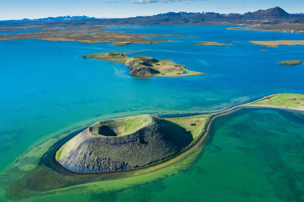 Skutustadagigar in Lake Myvatn North Iceland
