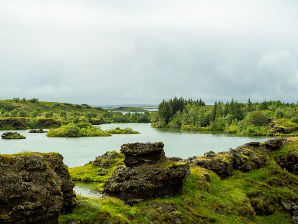Lake Myvatn in north Iceland