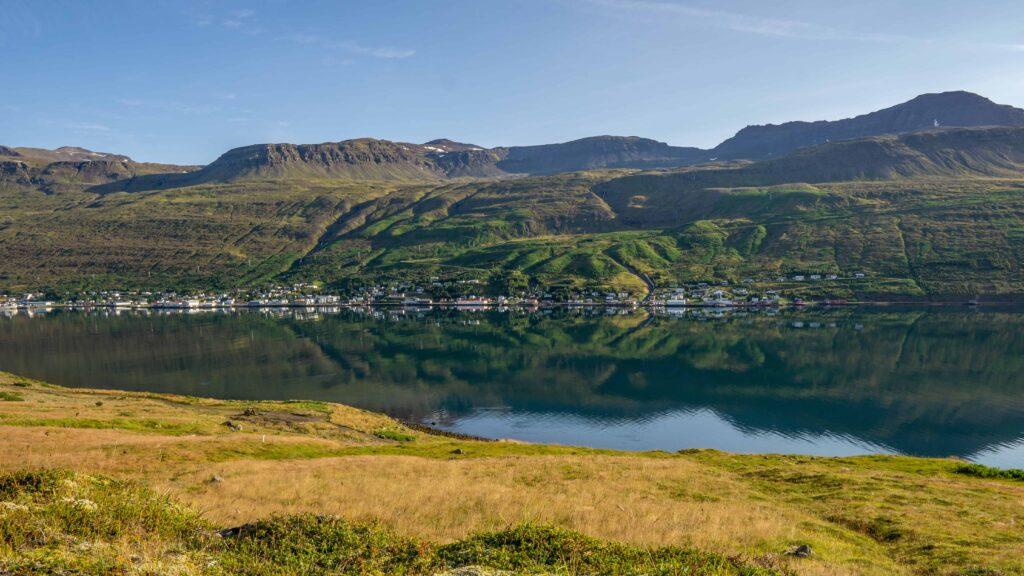 Ólafsfjörður fishing village in north Iceland