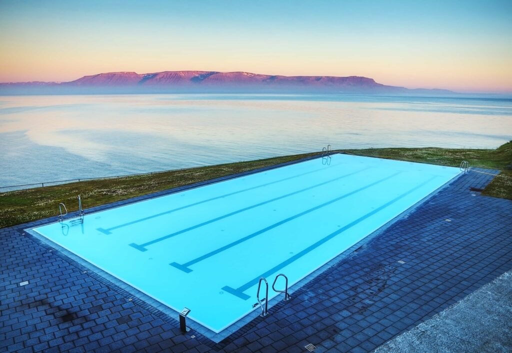 Hofsos swimming pool in north Iceland